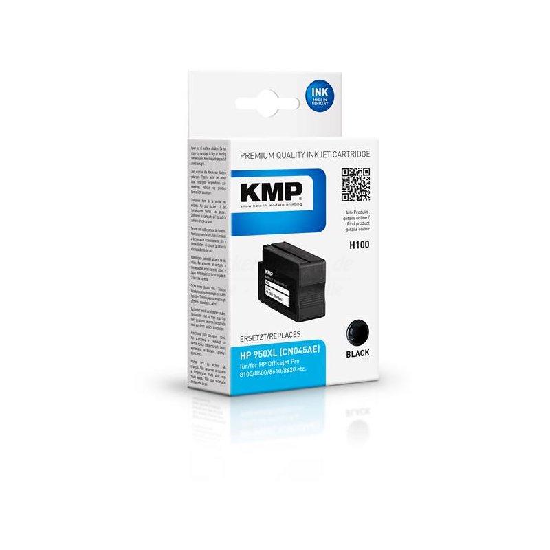 kmp h100 kompatibel zu hp 950xl patrone schwarz cn045ae druckerzwerge shop. Black Bedroom Furniture Sets. Home Design Ideas