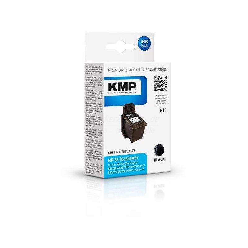 kmp h11 refilled hp 56 druckerpatrone c6656ae schwarz druckerzwerge shop. Black Bedroom Furniture Sets. Home Design Ideas