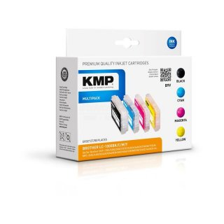 KMP Tinte B9V Multipack kompatibel zu Brother LC1000