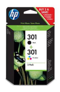 HP Multipack 301 schwarz und farbig - neu