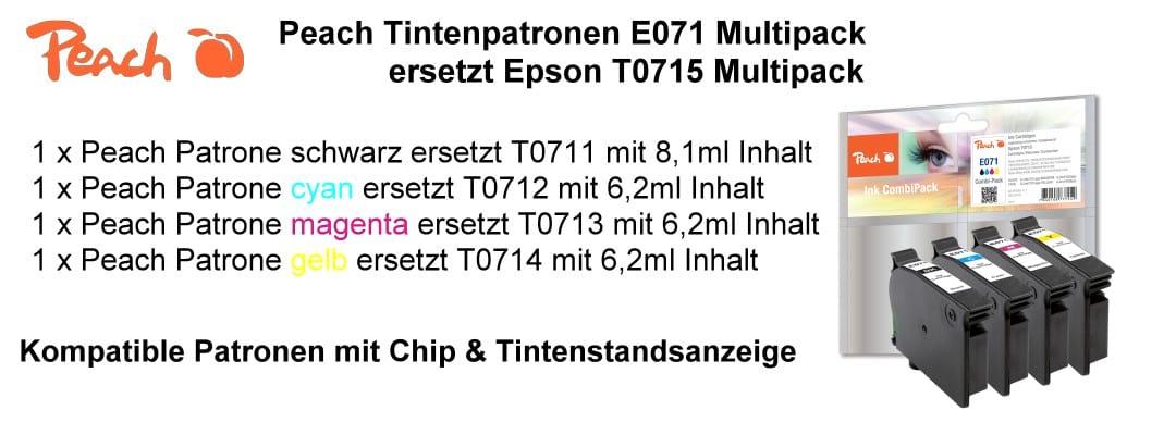 Peach E071 Druckerpatronen kompatibel zu T071